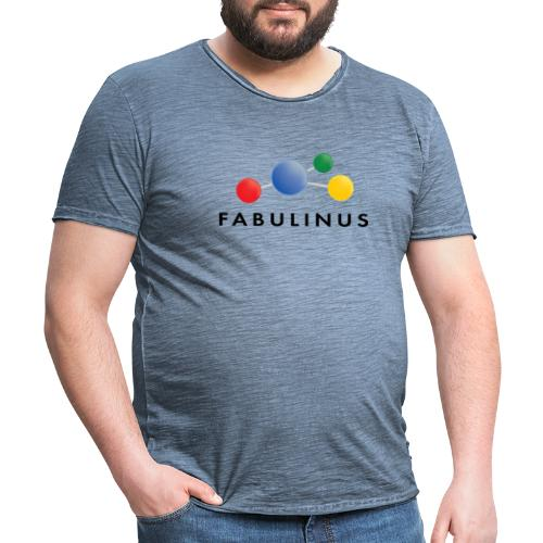 Fabulinus logo dubbelzijdig - Mannen Vintage T-shirt