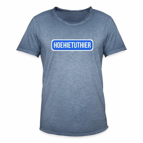 Hoehietuthier - Mannen Vintage T-shirt