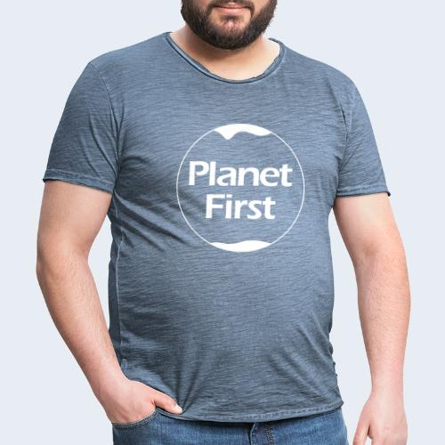 Planet First - Mannen Vintage T-shirt