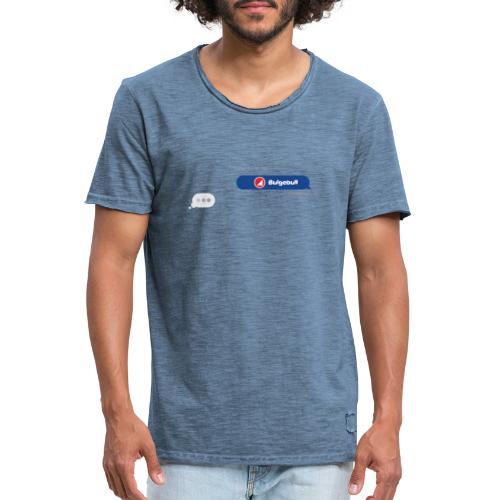 BULGEBULL TEXT - Men's Vintage T-Shirt