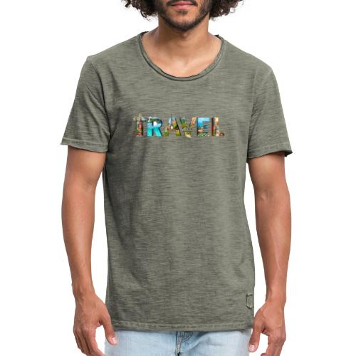 TRAVEL WORD - Camiseta vintage hombre