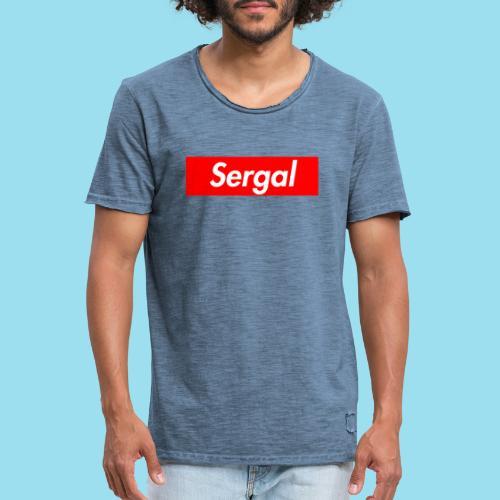 SERGAL Supmeme - Männer Vintage T-Shirt