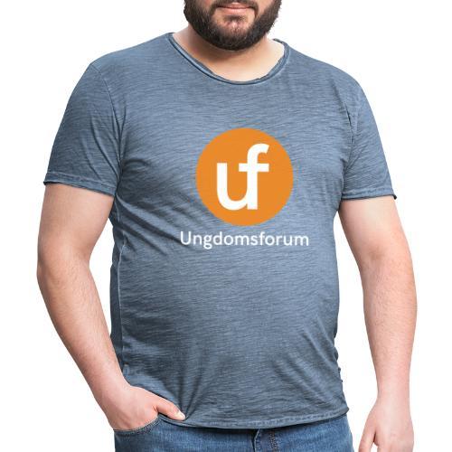 UF logo - Vintage-T-skjorte for menn