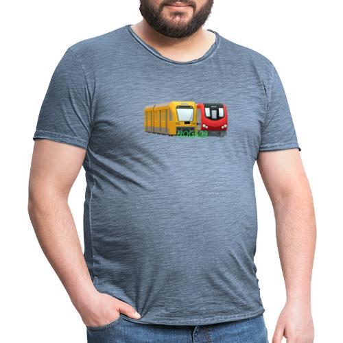 transparent NOGA09 logga - Vintage-T-shirt herr