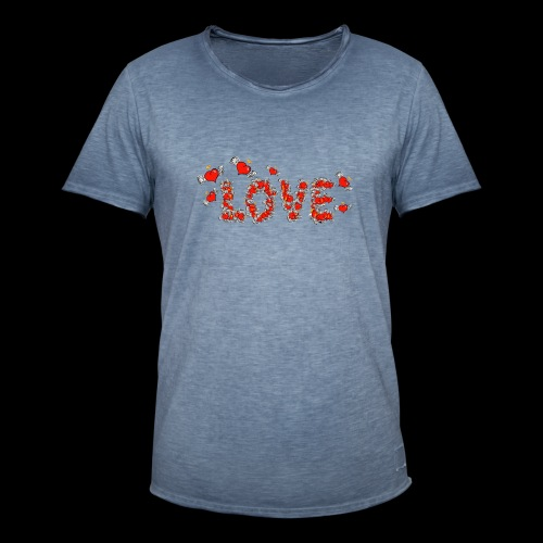 Flying Hearts LOVE - Herre vintage T-shirt