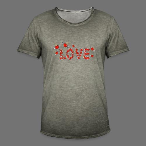 Flying Hearts LOVE - Men's Vintage T-Shirt