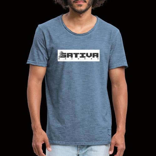 SATIVA Logo - Men's Vintage T-Shirt