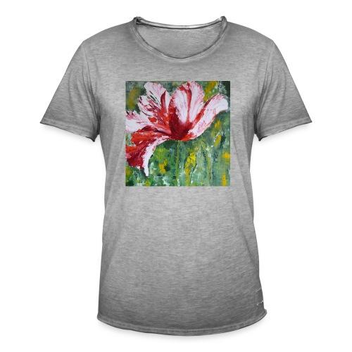 tulp met pallet mes - Mannen Vintage T-shirt