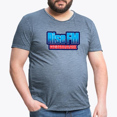 Rise FM Denmark Text Only Logo - Herre vintage T-shirt