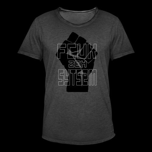 fcuk zeh sytsem - Mannen Vintage T-shirt