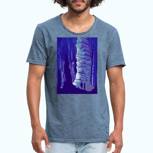 Fancy Grotto Vintage Travel Poster - Men's Vintage T-Shirt