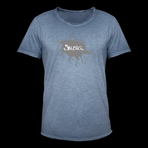 sausig - Mannen Vintage T-shirt