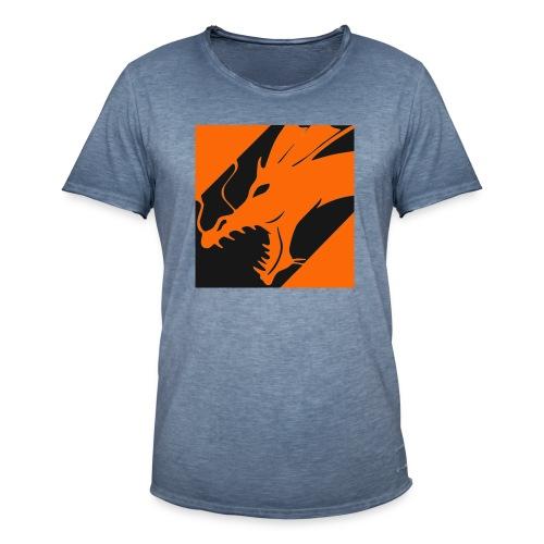 Dragon Orange - Mannen Vintage T-shirt