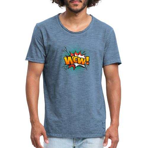 wow - T-shirt vintage Homme