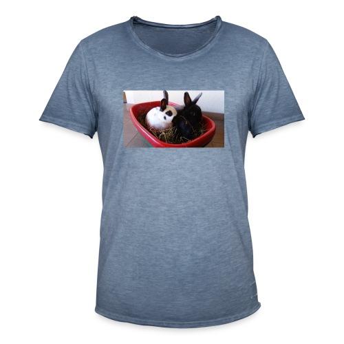 Warme Sachen mit dem Hasenlogo - Männer Vintage T-Shirt