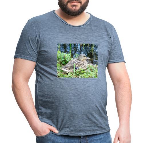 Ente - Männer Vintage T-Shirt