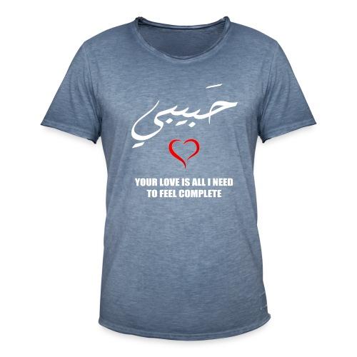 Rakkaus Lahjat / Arabian kirjaimella - Miesten vintage t-paita
