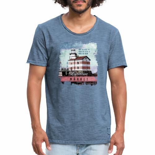 Märket majakkatuotteet, Finland Lighthouse, väri - Miesten vintage t-paita