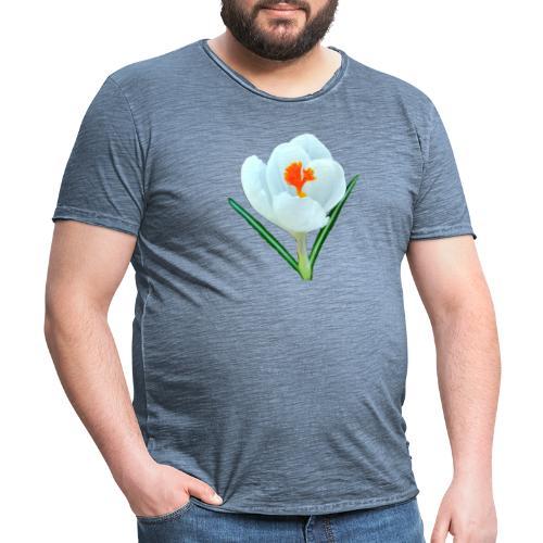 TIAN GREEN - Krokuss 2020 - Männer Vintage T-Shirt
