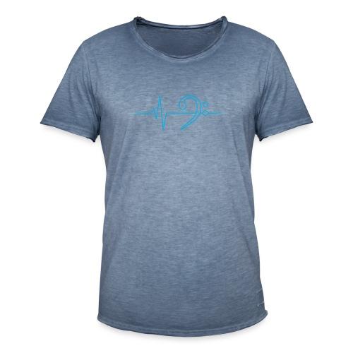 LowHeartBeat cyan - Männer Vintage T-Shirt