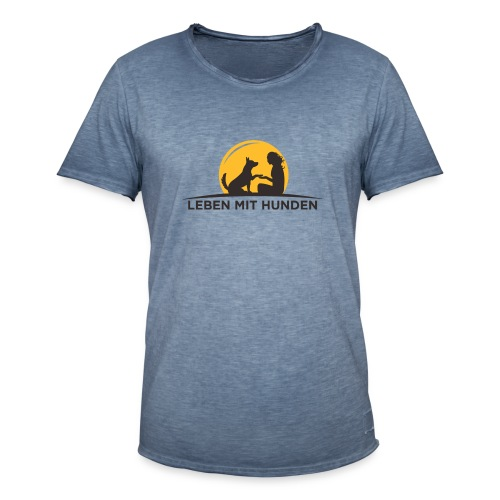 leben mit huden - Männer Vintage T-Shirt
