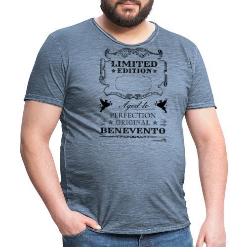 1.01 Invecchiato per Perf. BN (Inserisci anno al centro) - Maglietta vintage da uomo