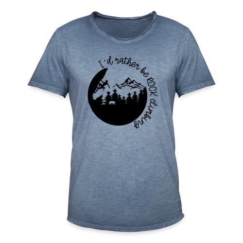 ROCK CLIMBING Shirt- Rather be rock climbing - Männer Vintage T-Shirt