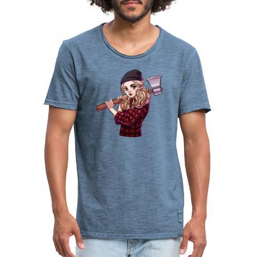 Münster   HOLZ - Männer Vintage T-Shirt