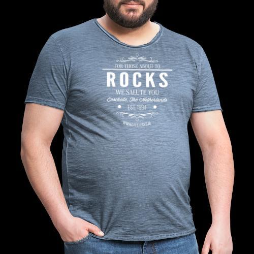 Vintage Rocks Label - Mannen Vintage T-shirt
