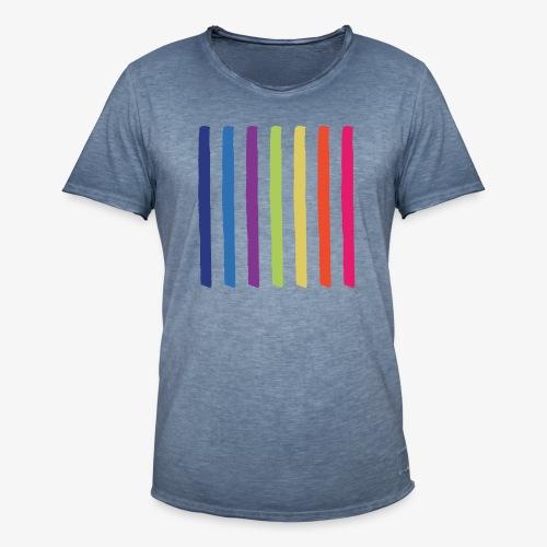 Linee - Maglietta vintage da uomo