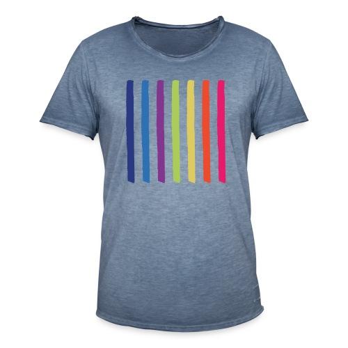 Linjer - Herre vintage T-shirt