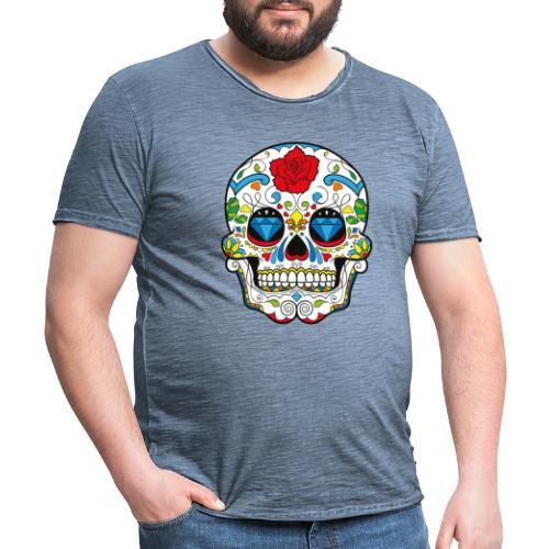 Totenkopf Abstrakt - Männer Vintage T-Shirt