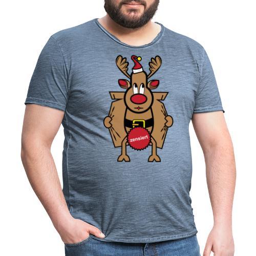 Dirty Rudolph zu Weihnachten als Geschenk - Männer Vintage T-Shirt