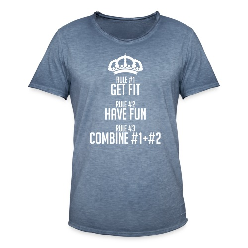 FITNESS RULES - Camiseta vintage hombre