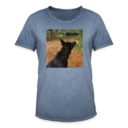 Schwarzer DSH - Männer Vintage T-Shirt