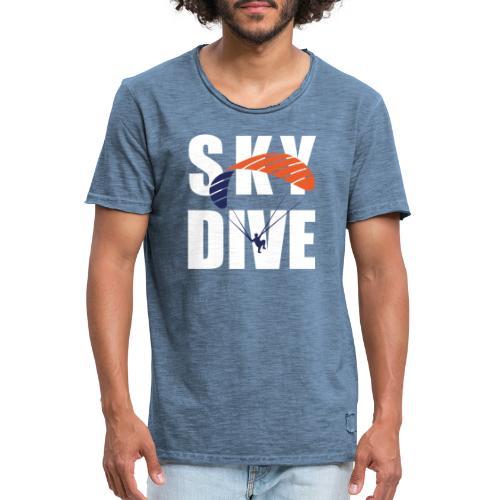 SkyDive - Männer Vintage T-Shirt