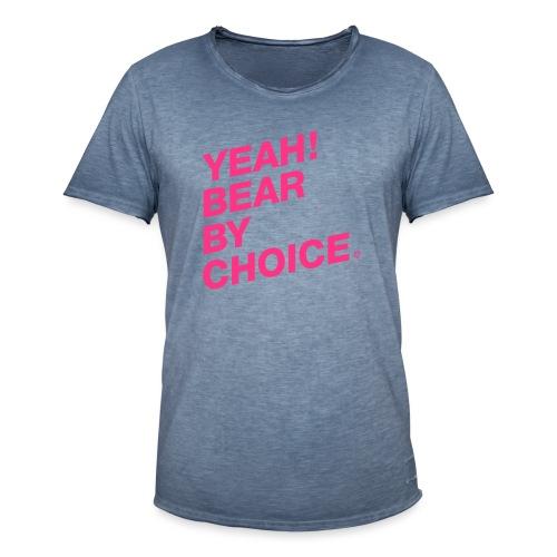 Yeah Bear by Choice - Männer Vintage T-Shirt