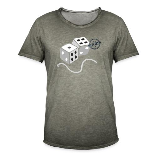 Dice - Symbols of Happiness - Men's Vintage T-Shirt
