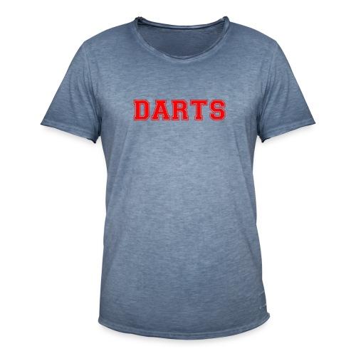 DARTS - Schriftzug in rot - Männer Vintage T-Shirt