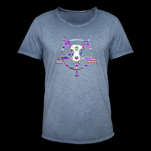 glitch cat - T-shirt vintage Homme