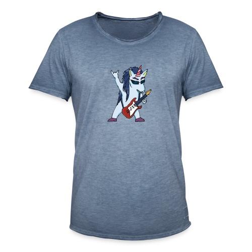Licorne guitare metal couleur sans fond - T-shirt vintage Homme