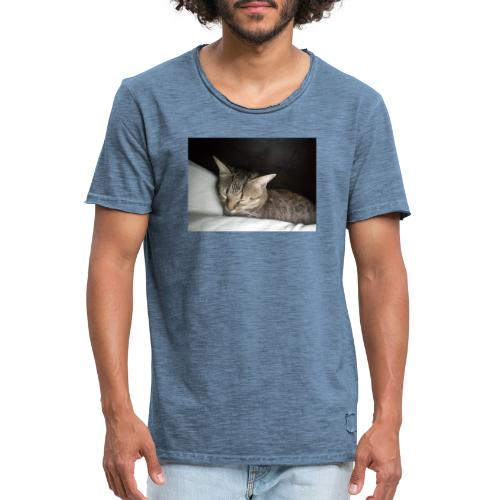 Katzen Liebhaber Und Leidenschaft - Männer Vintage T-Shirt
