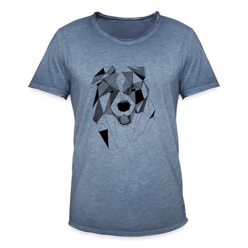 BorderCollie - Mannen Vintage T-shirt