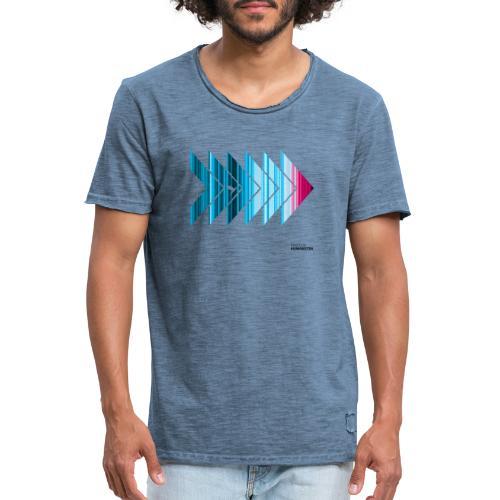 Warming stripes: Heißer ist nicht besser! - Männer Vintage T-Shirt