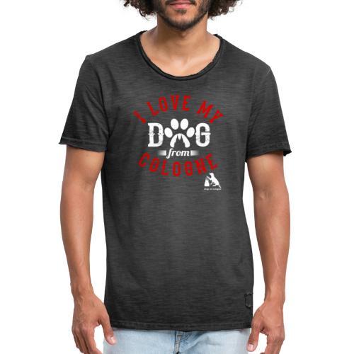 I love my dog from cologne! - Männer Vintage T-Shirt