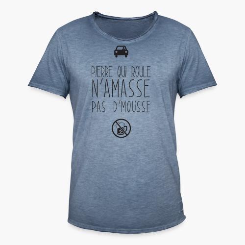 Pierre qui roule - T-shirt vintage Homme