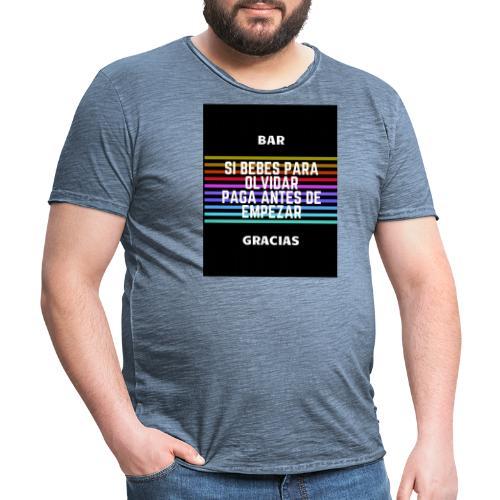 bar - T-shirt vintage Homme