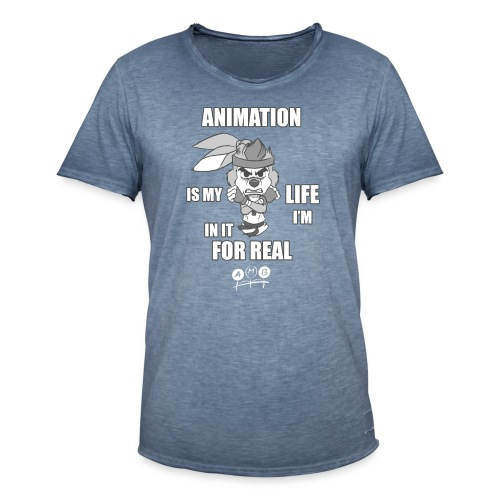 AMB Animation - In It For REAL - Men's Vintage T-Shirt