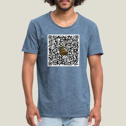 QR-kod bajshoroskop - Vintage-T-shirt herr