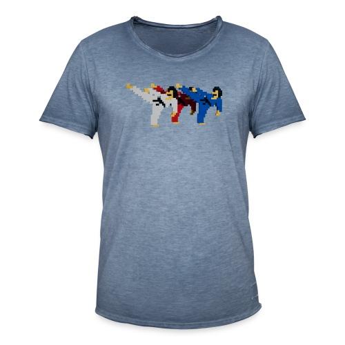 8 bit trip ninjas 2 - Men's Vintage T-Shirt